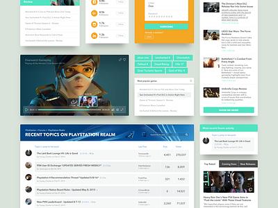Freebie Sketch: Gaming Ui Kit button profile menu dashboard navigation desktop login sketchapp ui kit gaming