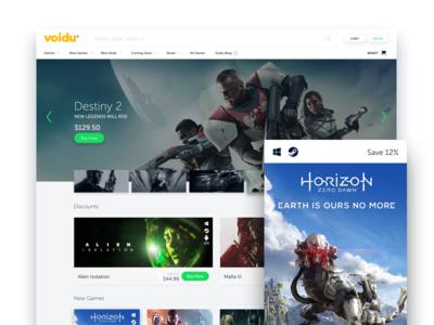 Voidu Redesign-Landing Page