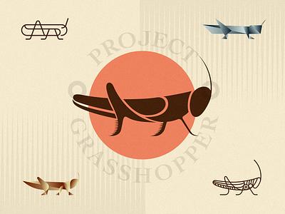 GHP-Symbol Explorations origami logo insect grasshopper earth wild cricket bug animal