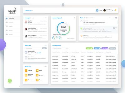 Ghp Dashboard 1 simple minimal shadow flat london theme colorful ui dashboard crm app banking