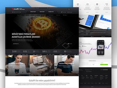 Turkish FxBroker Homepage Design ui branding concept london fx money finance forex landing website banking