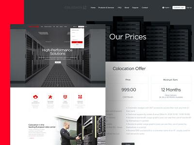 Colodata Website cloud layout analytics flat simple clean switzerland landing page website data