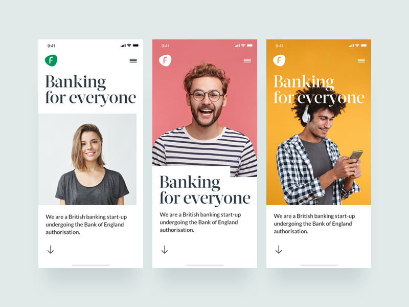Adaptive Design Layout Concepts iphone x london uk detail simplified minimal clean ui fintech mobile web startup banking