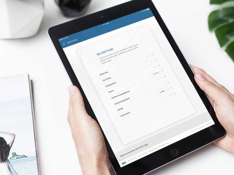 Client Onboarding App ux app design ui