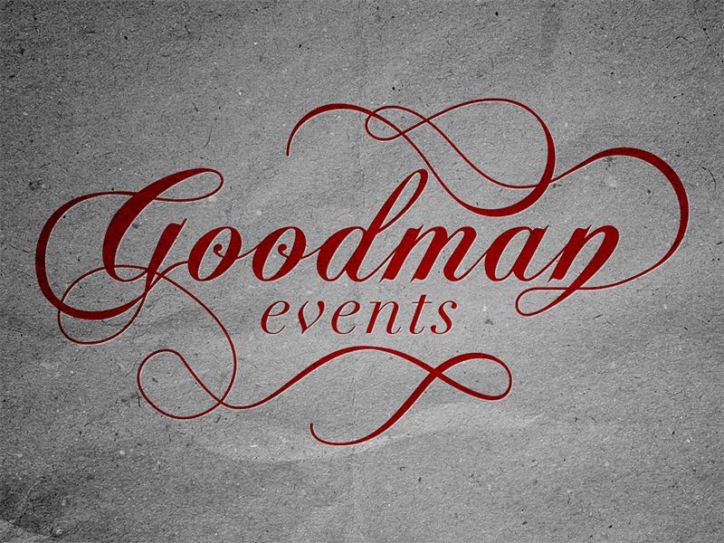 Goodman Events logo typography