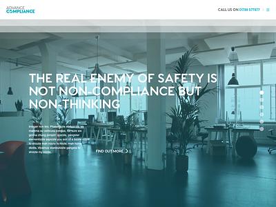 Advance Compliance Website ui single page site website