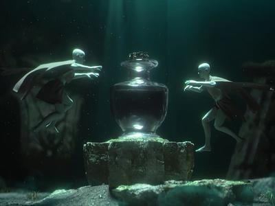 Hope - CGI Underwater Scene fantasy cinematic epic mythological myth mythology mystic waves water ocean animation 3d ilustration 3d animation 3d 3d art cg art cgi vfx motion graphic motion design