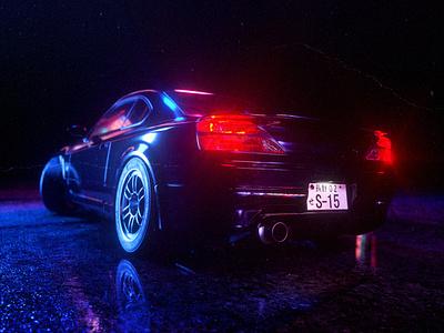 Project S15 tuning car motion design 3d illustration cgi cinematic 3d art 3d