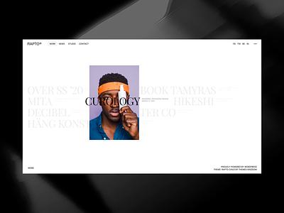 Rapto - Portfolio Theme photographer photography template agency website blog gallery portfolio responsive wordpress theme minimal