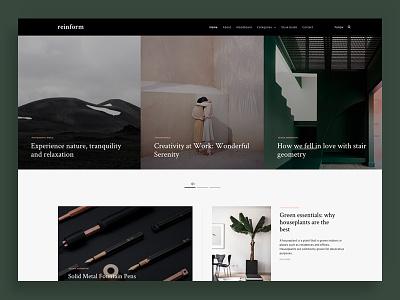 Reinform wordpress theme template responsive minimal magazine interior furniture fashion blog