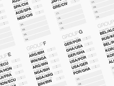 World Cup 2014 Wallchart world cup fifa 2014 eps download wallchart football soccer free helvetica type pdf