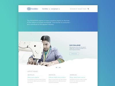 Landing Page WIP web website landing page gradient carousel blue green homepage wip