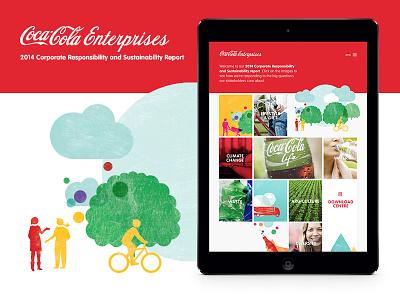 Coca Cola Enterprises screenshot illustration web cce coca cola