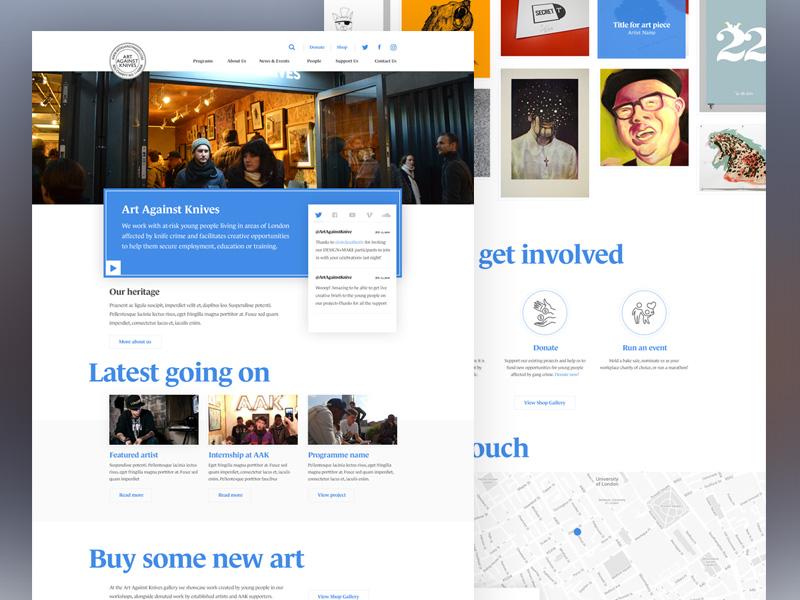 AAK WIP art map contact landing web homepage wip