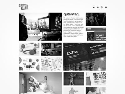New Portfolio website web grid responsive design black and white portfolio