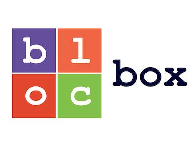 blocbox logo alisa matthews branding box bloc logo