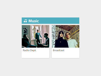 Music gigs music links ui gig section