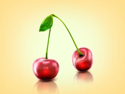 Glass Cherry glass cherry effect glossy cherries shiny light reflection