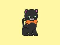 Vintage Halloween Kitten