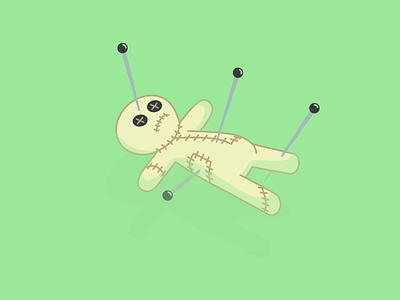 Floating Voodoo Doll drown swim water floating pins doll voodoo