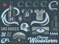 XFL Chicago Windstorm Logo Sheet