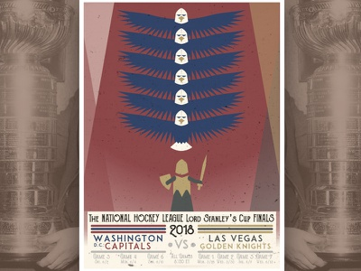 Decades Gameday Posters: Stanley Cup Finals/ 30's hockey washington vegas poster sports nhl 30s