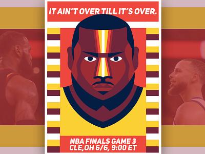 DGP: NBA Finals Game 3/ 70's lebron james sports poster warriors cavaliers nba basketball 70s