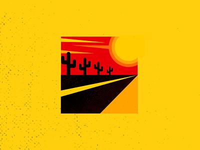 yello&orang&blac desert sunset