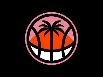 Miami Basketball on Redbubble & Cotton Bureau nba logo sunset ocean palm tree pink orange heat sports basketball miami