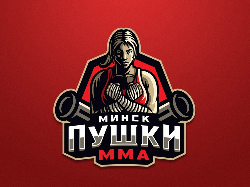 Пушки ММА dmitry krino crossed hands fists woman fighter guns female girl mma