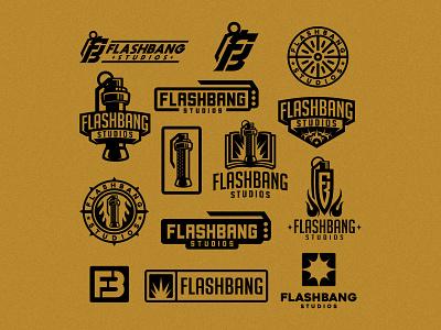 Flashbang flat boom bang book fire fb logo monogram grenade dmitry krino flashbang