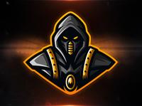 Cyber Ninja sports logo ninja mascot logo design dmiry krino mascot logo cyber warrior mascot ninja