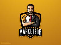 Trainer & Marketeur dmitry krino logo fitness gentlemen sports logo mascot crossfit trader marketer trainer