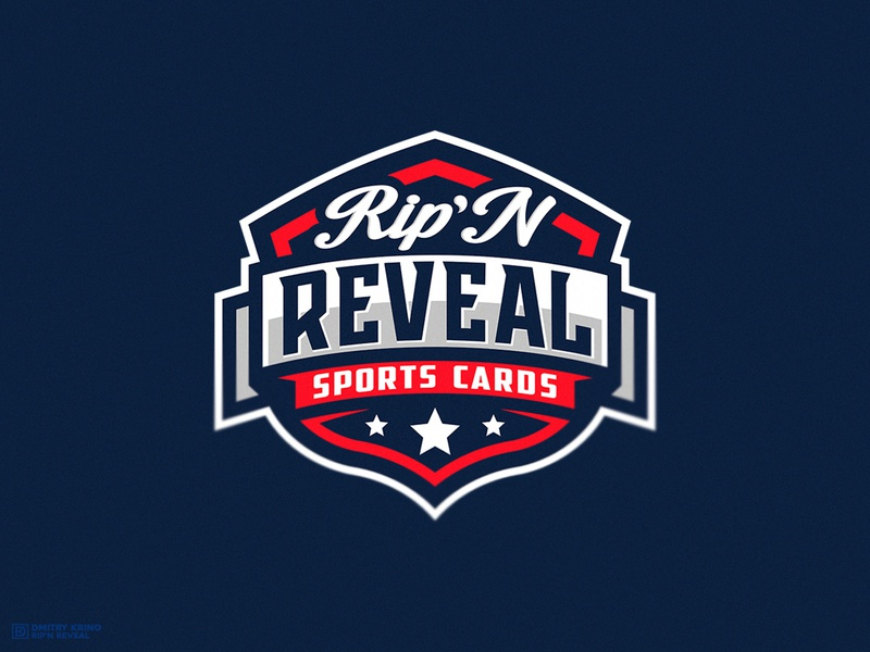Rip'N Reveal mascot logo dmitry krino sports branding sports design football baseball nfl sport cards sports logo sport