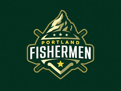Portland Fishermen sport star mountain fish mascot mascot dmitry krino fishing fish fisherman portland