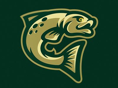 Fish sport logo dmitry krino salmon 2d character 2d art 2d mascot logo mascot fish