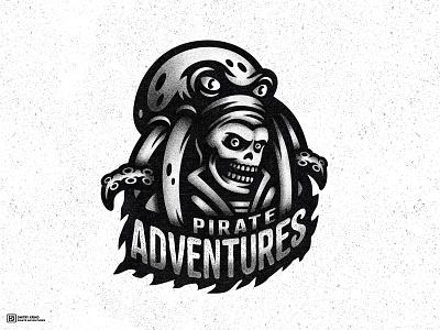 Pirate Adventures dmitry krino esportlogo mascot sailor skelleton deadman dead skull kraken octopus pirate