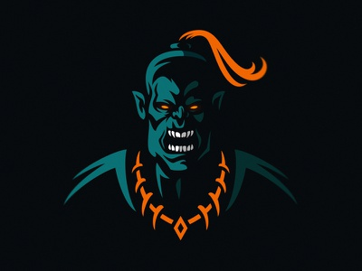 Orc Mascot esport logo mascot logo dmitry krino vampire evil angry sorcerer knight moria lord of the rings monster warrior mascot orc