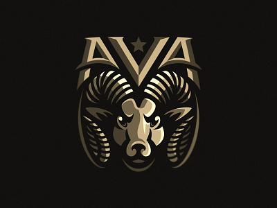 Ram mascot beast dmitry krino sports logo sheep animal horns star head mascot logo ram