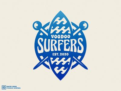 Voodoo Surfers nft 2d art 2d california dmitry krino sport logo lmascot ocean waves surfboard needles voodoo surfer surfing surfers