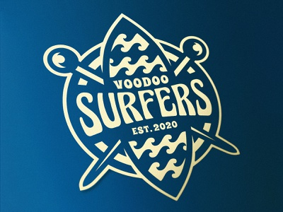 Vodoo Surfers nft 2d waves voodoo ocean surfing surfers esports logo graphic design esports mascot dmitry krino