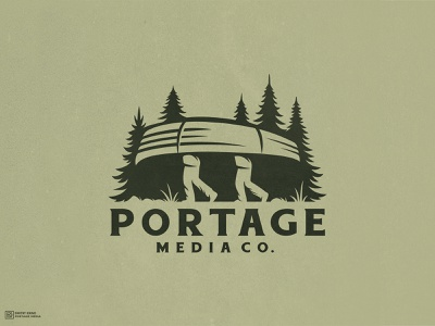 Portage Media Co. 2d esports logo mascot logo forest man boat portage dmitry krino