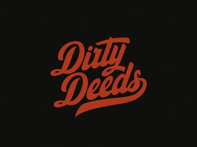 Dirty Deeds esport logo dmitry krino dirty deeds letter letters drawing hand lettering typography typo lettering