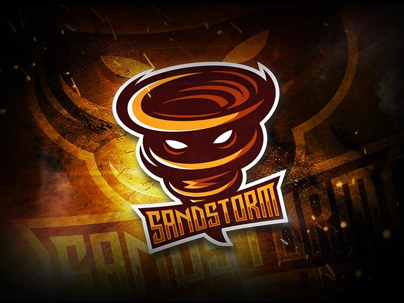 Sand Storm esport logo character branding mascot gaming logotype