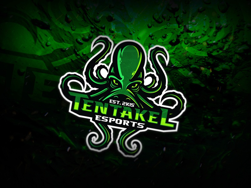 Tentakel Esports dmitry krino graphic design esport logo kraken octopus mascot esports