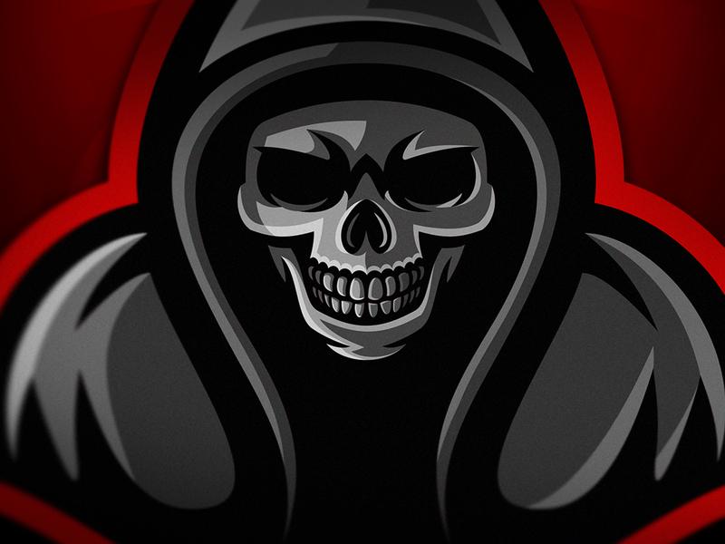 Hooded Skull graphic design typography illustration esport logo logotype esports logo branding krinographics mascot