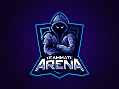 Arena gaming esport logo dmitry krino hoodie esport logo angry man mate hooded hood krinographics mascot