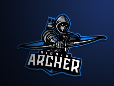 Hidden Archer ninja arrow warrior espprts logo archer mascot