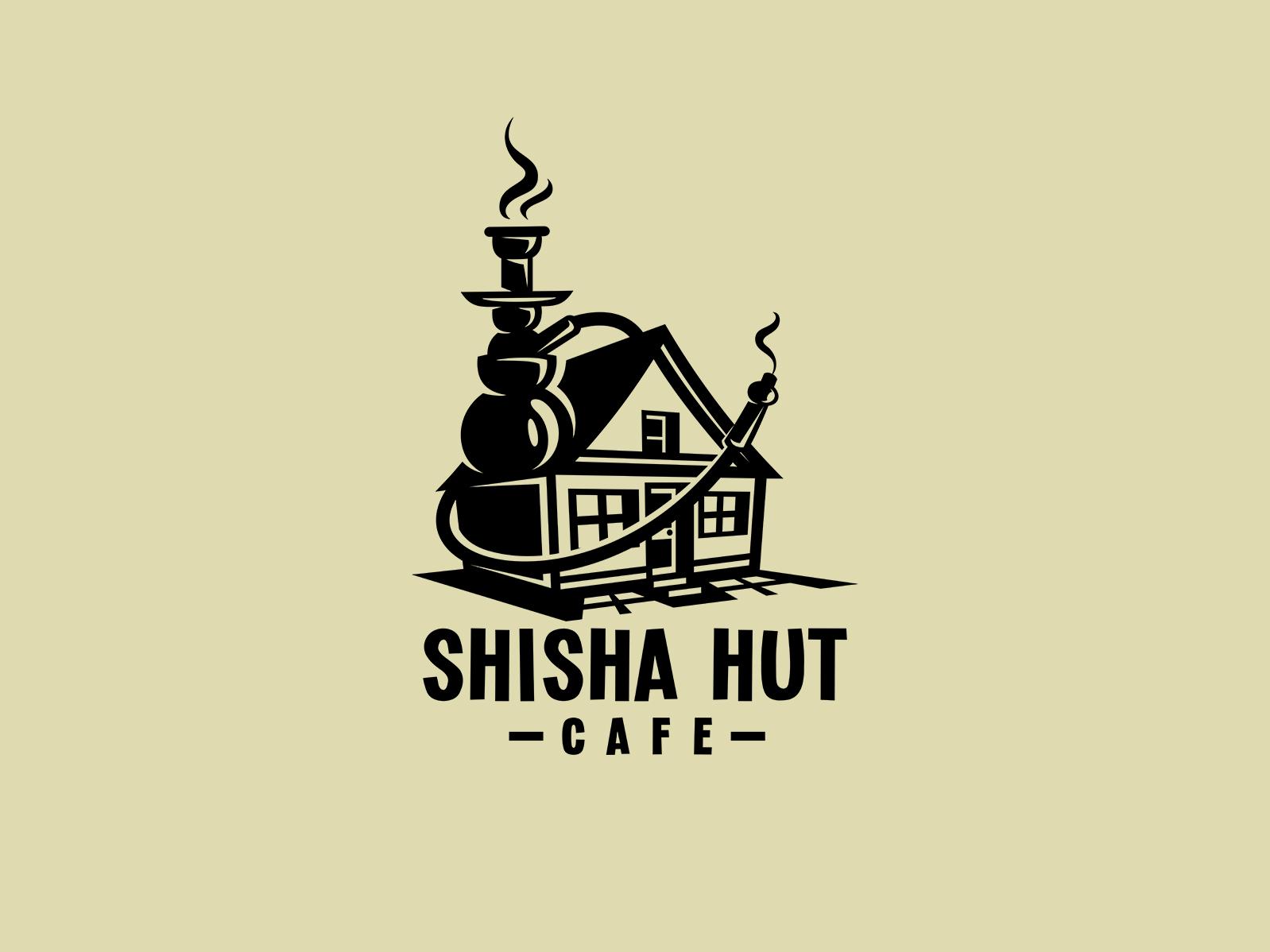 Shisha Hut dmitry krino logodesign logotype smoke home house shisha cafe hut hookah logo