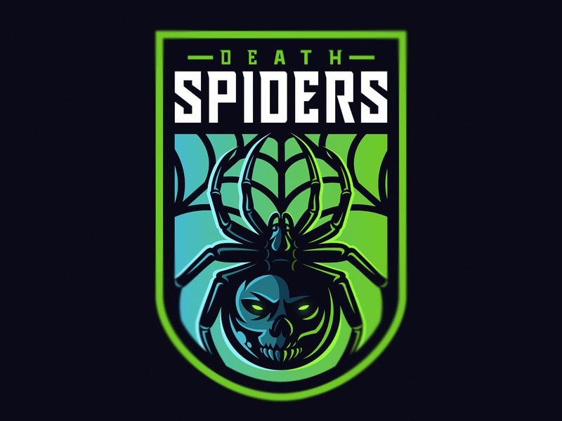 Death Spiders eyes dead poison spiders death web spider web skull esportlogo mascot spider